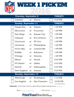 Printable NFL Pick'em Sheets