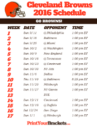 Printable NFL Schedules