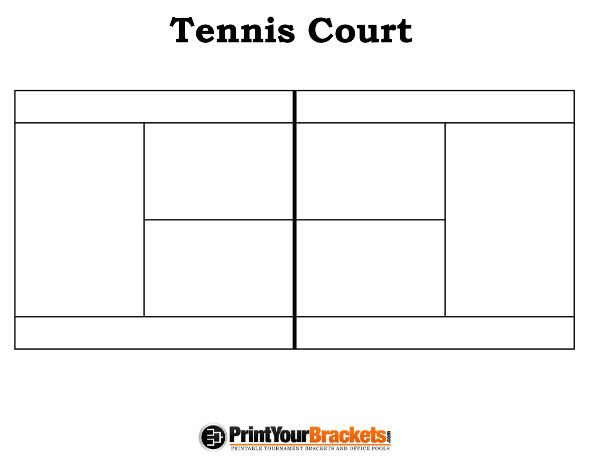 Printable Tennis Court Diagram