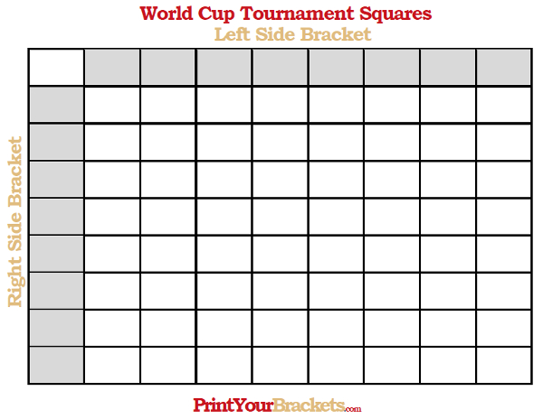 Printable World Cup Tournament Squares Pool