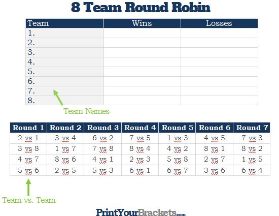 8 team league schedule template koni polycode co
