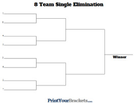 seeded tournament brackets printable