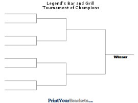 Single Elimination Tournament Brackets Printable