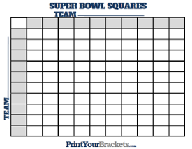 Super Bowl Squares Sheet