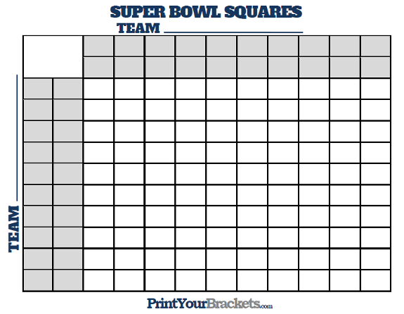 Super Bowl Squares with Quarter Lines