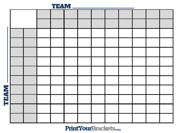 image about Super Bowl Squares Printable titled Tremendous Bowl Squares with Halftime Strains - Printable Edition