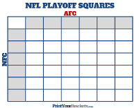 NFL Playoff Squares Football Poll