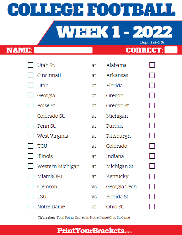 Remarkable image intended for college football pick'em printable sheets