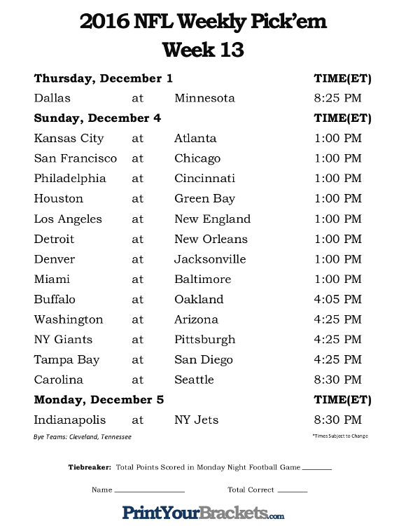 football squares sheet nfl games this weekend with spread