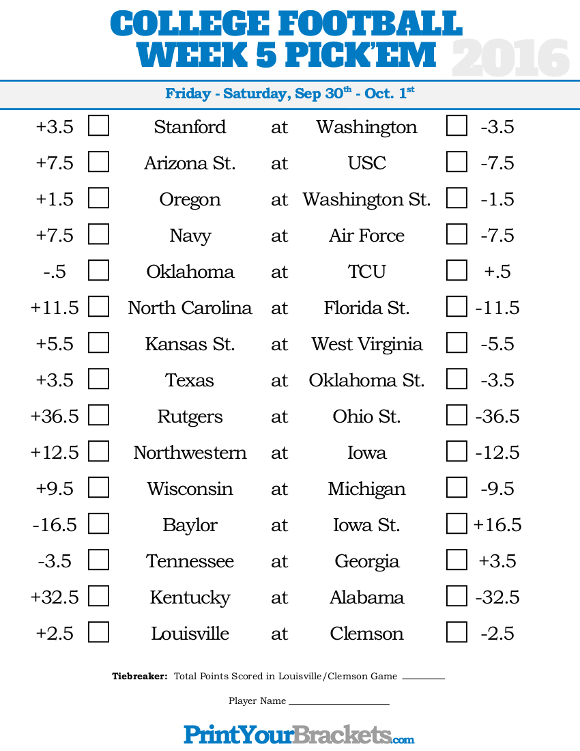 college football week 4 spreads college football schedule week 7