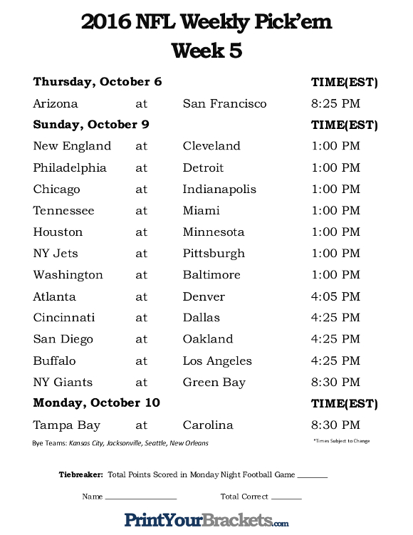 bets on football nfl schedule next week