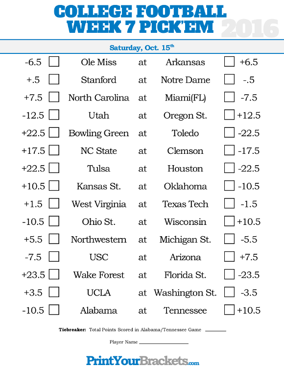 college football week 10 schedule college football brackets
