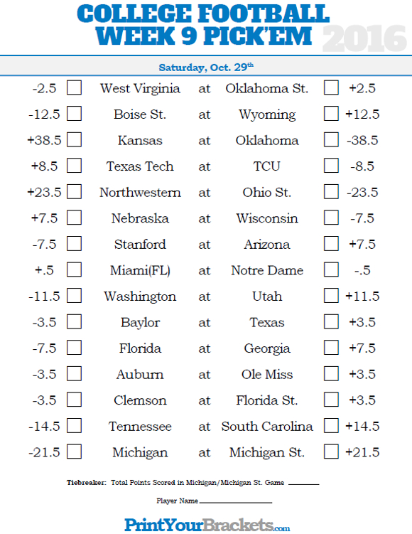 pick em against the spread don best scores and odds