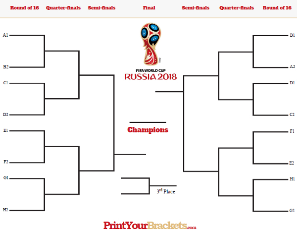 World Cup Tournament Bracket Printable