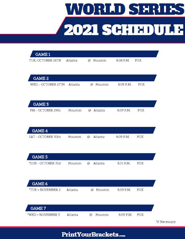 World series dates