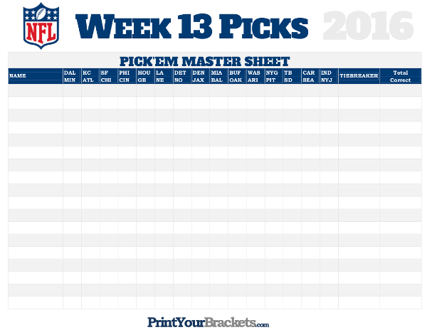 nfl spreads week 13