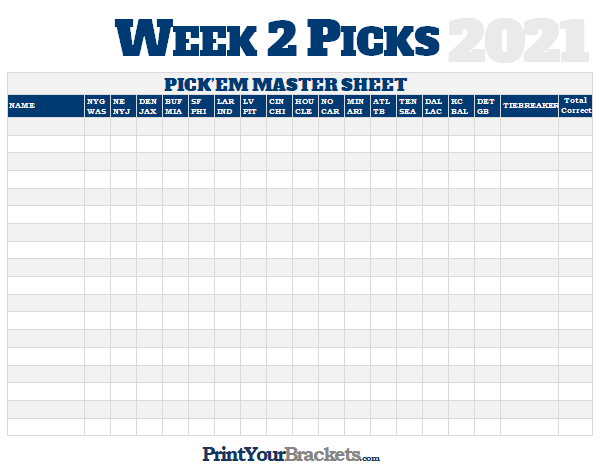 picture relating to Nfl Week 2 Schedule Printable referred to as NFL 7 days 2 Choices Study Sheet Grid - 2019