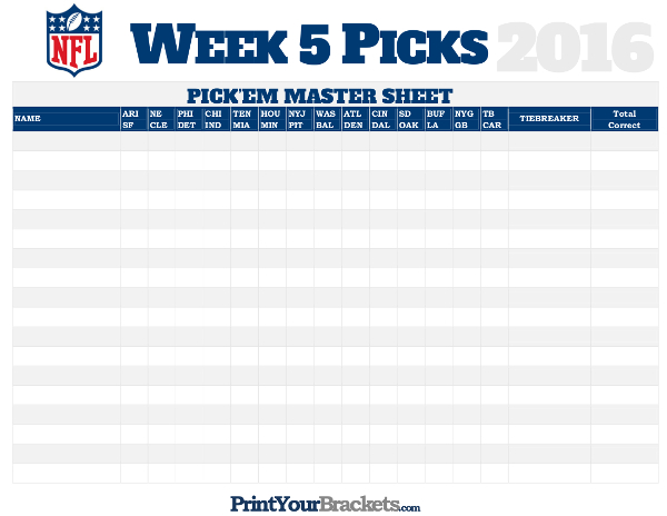 nfl week 5 picks master sheet grid