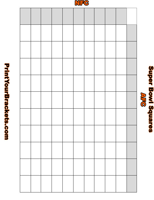 Super Bowl Squares Template 2015 | Autos Post