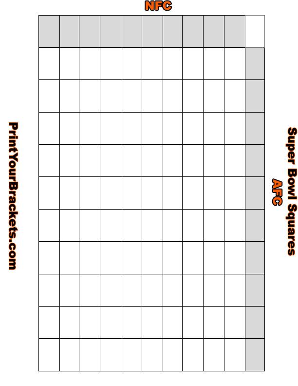 Super bowl squares template 2015 autos post for Super bowl 2015 squares template