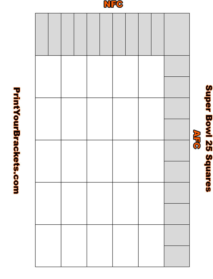 Super bowl square template 2015 autos post for Super bowl 2015 squares template