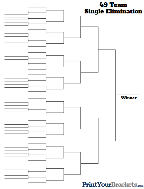 49 Team Tournament Bracket