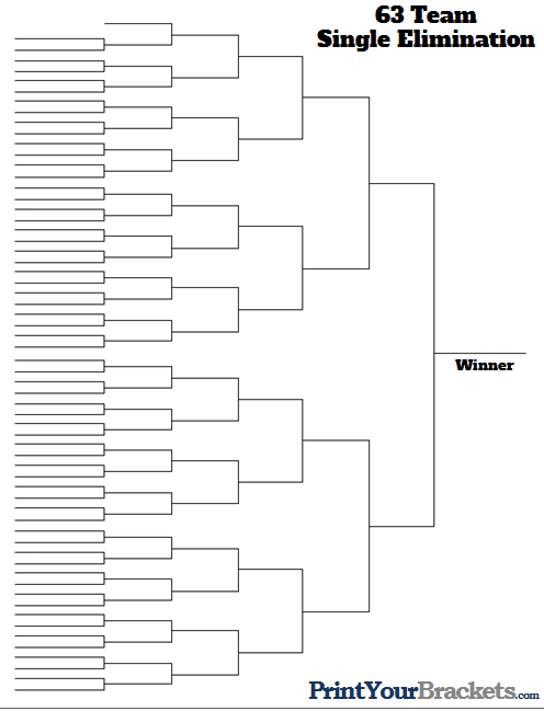 63 Team Tournament Bracket